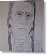 Indian Chief Metal Print by BD Nowlin