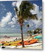 Kayaks On The Beach Metal Print by Amy Cicconi