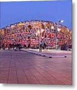 National Stadium Panorama Beijing China Metal Print by Colin and Linda McKie