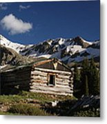 Old Cabin In Rocky Mountains Metal Print