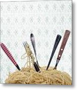 Pasta For Five Metal Print by Joana Kruse