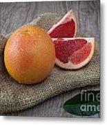Pink Grapefruit Metal Print