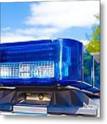 Police Lights Metal Print