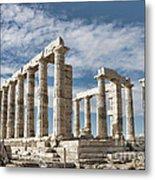 Poseidon's Temple Metal Print