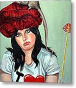 Rat Hat Metal Print by Shelley Laffal