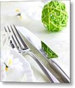 Spring Table Setting Metal Print