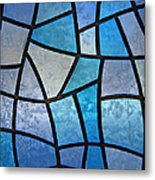 Stained Glass Background With Ice Flowers Metal Print by Kiril Stanchev