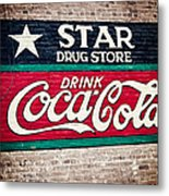 Star Drug Store Wall Sign Metal Print