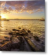 Sunset Light Metal Print by Debra and Dave Vanderlaan