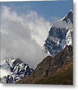 Swiss Alps Shrouded In Clouds Metal Print