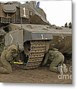Track Replacement On A Israel Defense Metal Print by Ofer Zidon