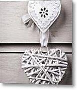 Vintage Hearts Metal Print by Jane Rix