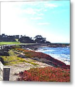 17 Mile Drive Shore Line II Metal Print by Barbara Snyder