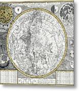 1700 Celestial Planisphere Metal Print by Daniel Hagerman