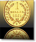 1851 1 Dollar Rare Charlotte Gold Metal Print by Jim Carrell