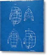 1878 Baseball Catchers Mask Patent - Blueprint Metal Print by Nikki Marie Smith