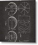 1929 Basketball Patent Artwork - Gray Metal Print by Nikki Marie Smith