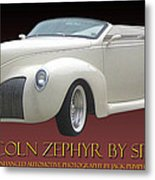 1939 Lincoln Zephyr Poster Metal Print