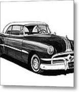 1951 Pontiac Hard Top Metal Print
