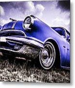1955 Pontiac Safari Metal Print by motography aka Phil Clark