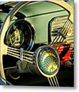 1956 Volkswagen Vw Bug Steering Wheel 2 Metal Print