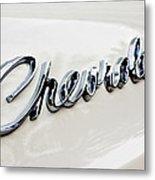 1966 Chevrolet Biscayne Emblem -0101c Metal Print