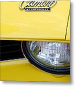 1969 Chevrolet Camaro Emblem -0241c Metal Print