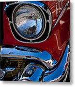 1957 Chevy Bel Air Custom Hot Rod Metal Print by David Patterson