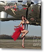 Beautiful 1940s Style Pin-up Girl Metal Print by Christian Kieffer
