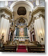 Church Of Santa Barbara Interior In Madrid Metal Print by Artur Bogacki