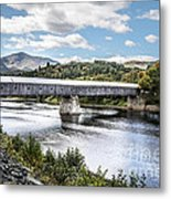 Cornish-windsor Covered Bridge  Metal Print by Edward Fielding