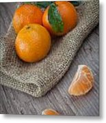 Fresh Tangerine Metal Print