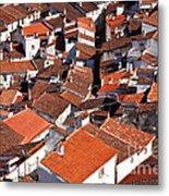 Medieval Town Rooftops Metal Print