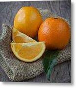 Orange Fruit Metal Print by Sabino Parente