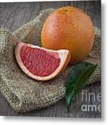 Pink Grapefruit Metal Print by Sabino Parente