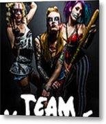 Team Violence Metal Print