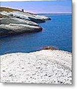 White Chalk Cliffs Eroded Coastline Metal Print by Dirk Ercken