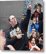 2012 San Francisco Giants World Series Champions Parade - Will The Thrill Clark - Dpp0006 Metal Print