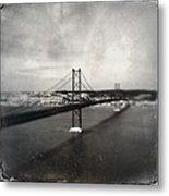25 De Abril Bridge II Metal Print by Marco Oliveira