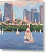 25 On The Charles Metal Print