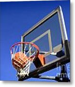 Basketball Shot Metal Print by Lane Erickson