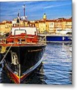 Boats At St.tropez Metal Print