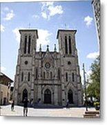 Cathedral Of San Fernando Metal Print by Karen Cowled