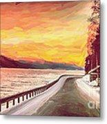 Sunset Metal Print by Sylvia  Niklasson