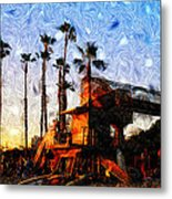 Surf Life Metal Print by Ron Regalado