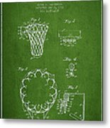 Vintage Basketball Goal Patent From 1936 Metal Print by Aged Pixel