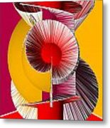 3d Abstract 18 Metal Print by Angelina Vick