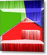 3d Abstract 3 Metal Print by Angelina Vick