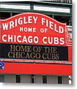 Chicago Cubs - Wrigley Field Metal Print