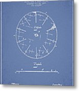 Circular Saw Patent Drawing From 1899 Metal Print by Aged Pixel